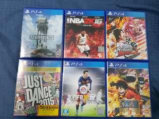 PS4/PSVita Games Condition 10/10