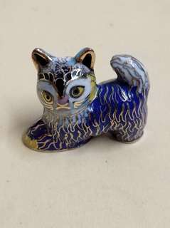 景泰藍 小貓