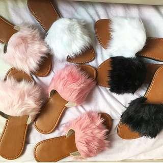 Plush Fur Slip-Ons