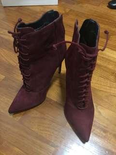 Steve Madden Laced High-Heel Boots