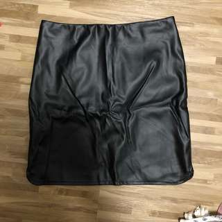 Valleygirl Faux Leather Skirt