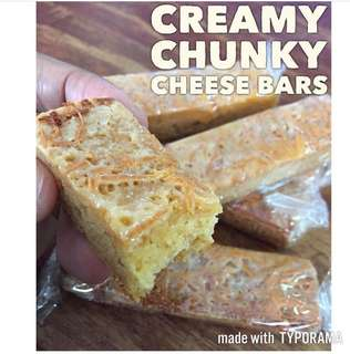 Creamy cheese bars