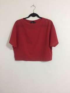 Kashieca red sheer top
