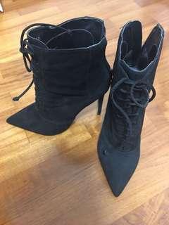 Steven Madden Laced High-Heel Boots