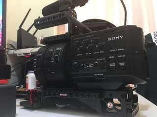 Sony FS700U (4k unlocked) with Zacuto VCT baseplate and others