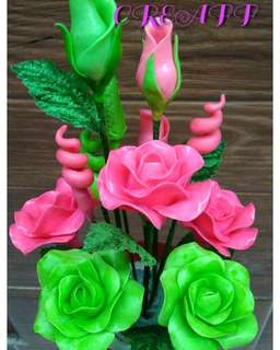Bunga sabun cantik murah