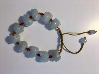 Jade Bracelet with Pigs