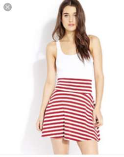 F21 striped skirt