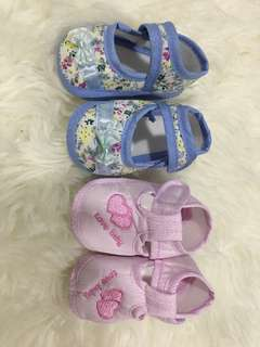 New 2 pairs cotton baby shoes