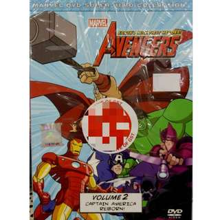 Marvel Avengers Vol.2 Captain America Reborn Anime DVD