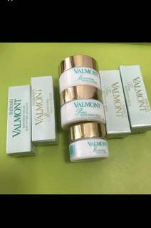 (Price written down delow) Valmont sample moisturizing mask eye c gel soothing cream *****(((renewing pack mask 15ml & 5ml all sold)))****