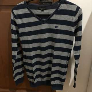 Preloved three second classic stripe sweater