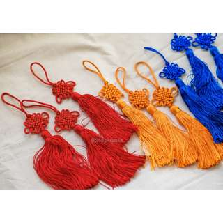 2PC Chinese Knot Tassel Lucky Charm Decoration, Gift–Set D
