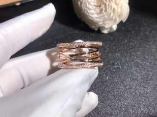 寶格麗 18K 玫瑰金鏤空新款戒指
