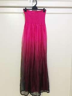 Long tube top dress