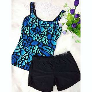 👚 Blue Leopard Printed Two piece👚🏖🌸