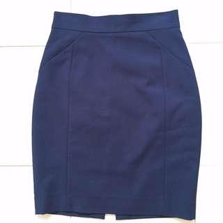 Oxford Blue Pencil Skirt