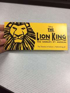 The Lion King PH (two) FOR BIDDING