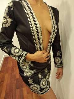 Sexy low-necked dress