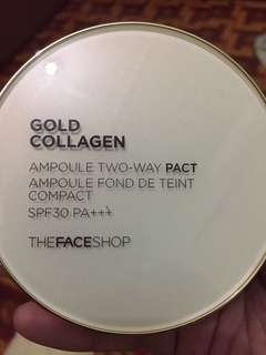 The face shop Gold Collagen two way pact (N203)natural beige