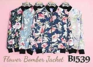 FLOWER BOMBER JAKET B1539