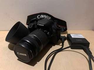 CANON 700D (8.5新)功能正常,無刮痕,無發霉,內在外觀都良好。