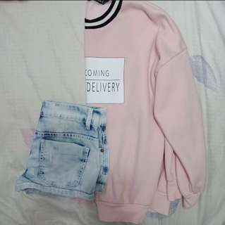 Baby pink pullover