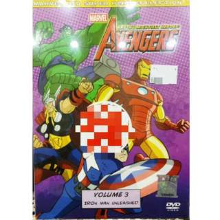 Marvel Avengers Vol.3 Iron Man Unleashed Anime DVD