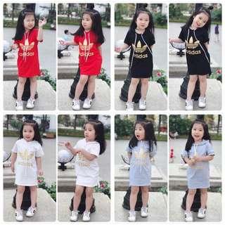 BN instocks adidas kids hoodies and dress