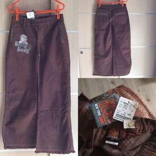 現貨免運費~Betty Boop棕色長褲可調腰圍最大28腰