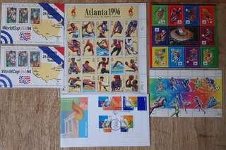 世界杯及奧運郵票+紀念封