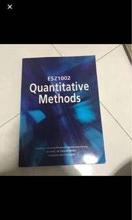 Quantitive methods textbook