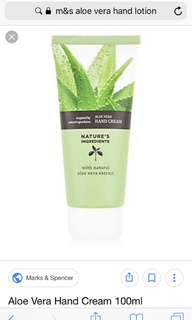 M&S brand new Aloe vera hand cream