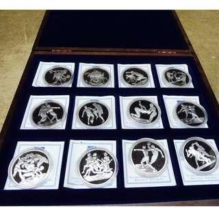 希臘,12 x 10歐元銀PP(408克銀),雅典奧林匹亞2004