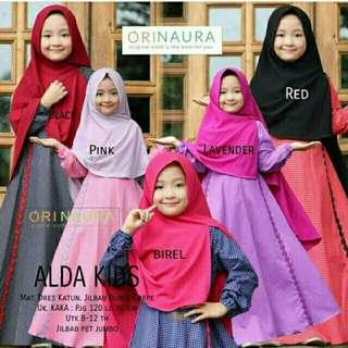 Gamis wanita muslim dress syari anak perempuan NMA