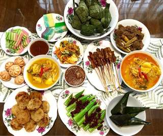 Bunga Kangkong Diningware for 6pax