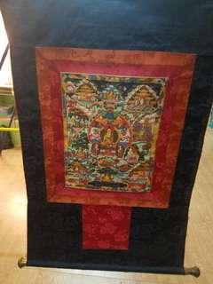 過百年唐卡,代售,保存良好,有 有緣人相約看,可比之前佛藏照片