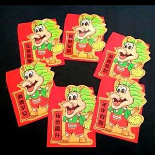 6pcs Gold Kili Red Packet *6 different designs