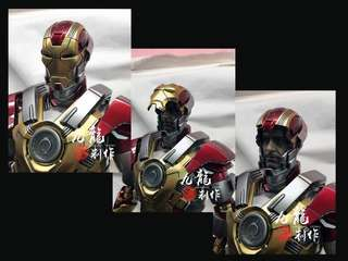 Custom made hot toys iron man mark17 Tony Stark Face