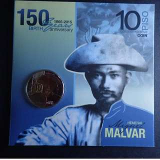 10 Piso Hen. Miguel Malvar 150th Birth Anniversary commemorative coin in blister pack
