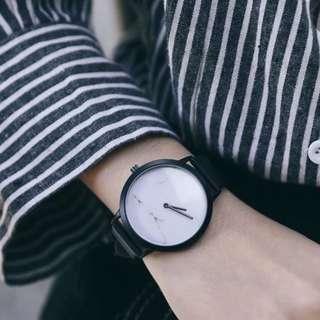 全新大理石手錶(白)