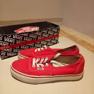 Vans Red Authentic