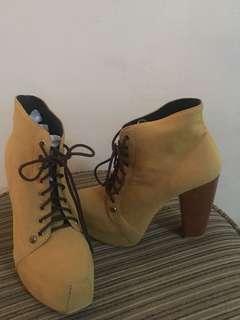platform boots heels