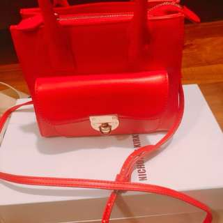Small Red Katie Judith Bag