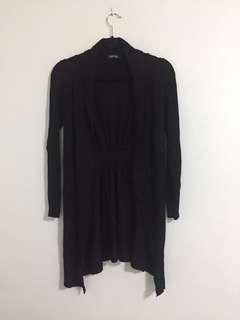 Nava black long cardigan