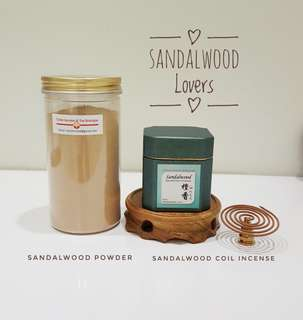 Sandalwood Incense Powder & Coil Incense Bundle