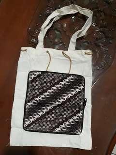 Tote Bag Lipat Motif Batik, Handmade Unik