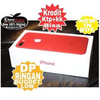 Kredit Low Dp 3jt iphone 7 plus 256gb Red New Original ktp+kk wa;081905288895