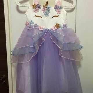 Purple unicorn party dress