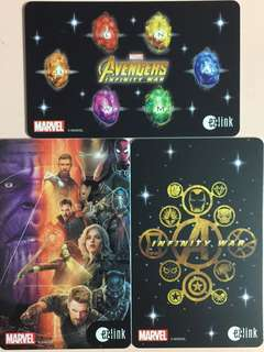 Limited Edition brand new Marvel Avengers Infinity war design ezlink Cards For $13.90 EACH.